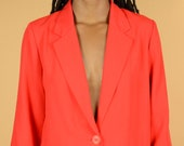 Vintage Red Hot Blazer Jacket
