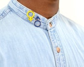 Man and Woman Symbol Enamel Pins
