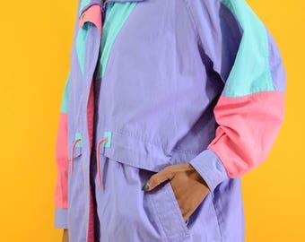 e8ea7b1bde Vintage Pastel Color-Block Fleece Jacket