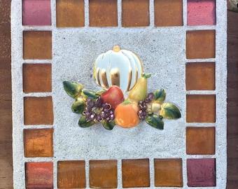 "Mixed media ""Fall Harvest"" harvest, fall, pumpkin, Thanksgiving, Treasure Stone"