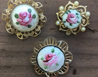 Guilloche brooch lot, enamel, scatter, guilloche, brooch, pin