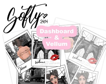 Gossip Girl Dashboard, Planer Dashboard, Vellum Dashboard
