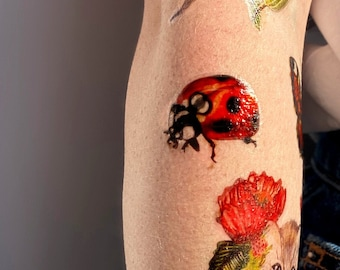 LAUREL & LEAR the LADYBIRDS temporary tattoos pack - hand illustrated original designs