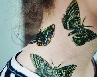 MATILDA & MILO the MOTHS temporary tattoos pack - hand illustrated original designs