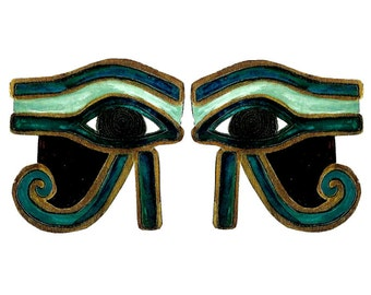 Twin EGYPTIAN EYE temporary tattoos pack - hand illustrated original designs