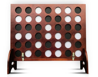 Giant Four in a Row (All Weather) Outdoor Game with Carrying Case and Noise Reducing Design - 60% Quieter - Jumbo Connect 4 Discs To Win