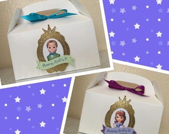 Sophia the First favor boxes