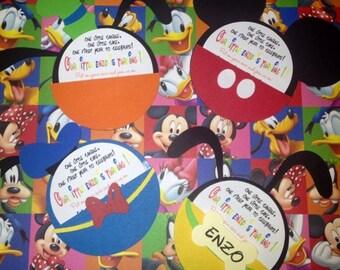 Handmade Mickey Mouse Invitations For Birthdays Baby