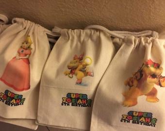 Mario Bros favor bags
