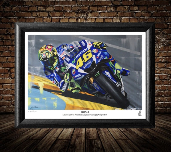 VALENTINO ROSSI CANVAS PRINT POSTER PHOTO 2017 MOTOGP WALL ART MOVISTAR DOCTOR