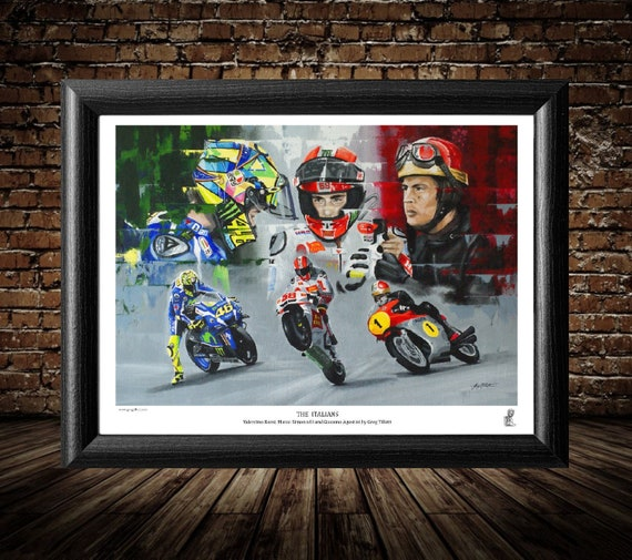 CERT PRINTED AUTOGRAPH LIMITED EDITION VALENTINO ROSSI MARCO SIMONCELLI MOTO GP SIGNED PHOTOGRAPH