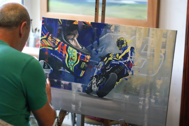 瓦伦蒂诺·罗西(Valentino Rossi)限量版艺术印花Motogp by Greg图像3