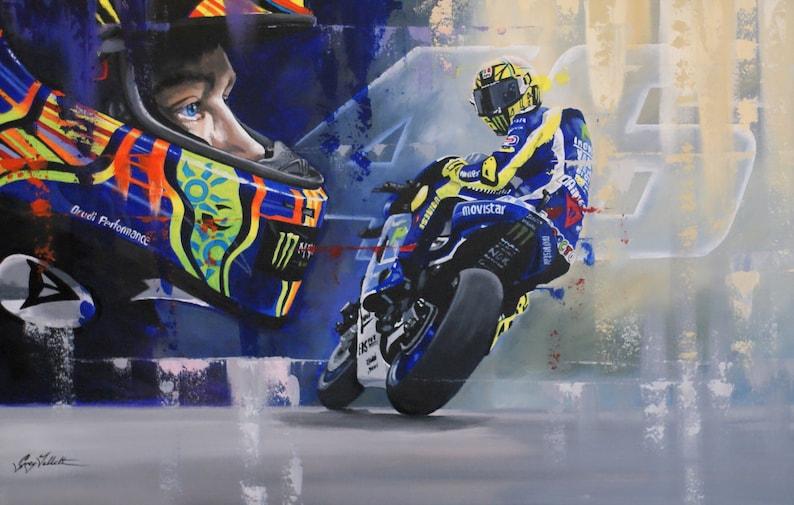 瓦伦蒂诺·罗西(Valentino Rossi)限量版艺术印花Motogp by Greg图像1
