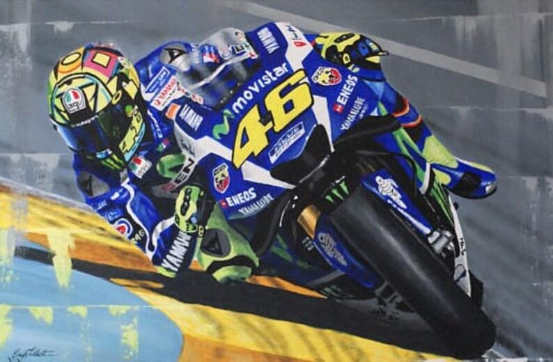 Valentino Rossi Limitierter Kunstdruck Von Original Gemälde Etsy