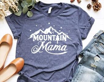 645f4775 Mountain Mama T-Shirt // Spring Shirt // Camping T-shirt for Mom // Happy Camper  T-Shirt //