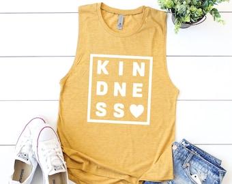 3db31af2d69 Kindness Tank Top    Kindness Matters    Be Kind    Happy    Happy Shirt     Muscle Tank    Kindness Tank    Beach Tank    Happy Tank Top