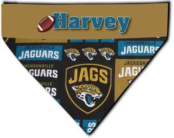 2022a722d NEW Over Collar Dog Cat Pet Personalized NFL Football Jacksonville Jaguars  Bandana