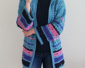 Crochet cardigan pattern,Hummingbird cardigan pattern,oversized crochet coat pattern,lace crochet sweater pattern,PDF jacket pattern XS-3XL