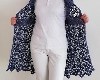 Crochet Pattern / Long Crochet Duster Cardigan / Lace Crochet Summer vest Pattern  / Beginner Sweater / Summer Breeze Duster Pattern PDF