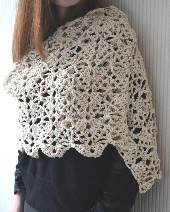 Crochet Shawl Patternsummer Breeze Lace Crochet Shawlcrochet Etsy