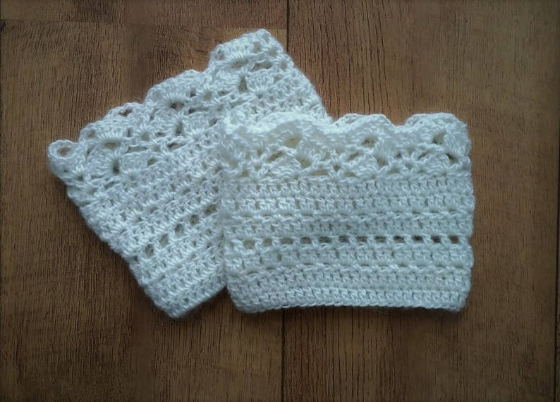 Crochet Boot Cuffs Pattern Us Terms Lace Boot Socks Crochet Etsy