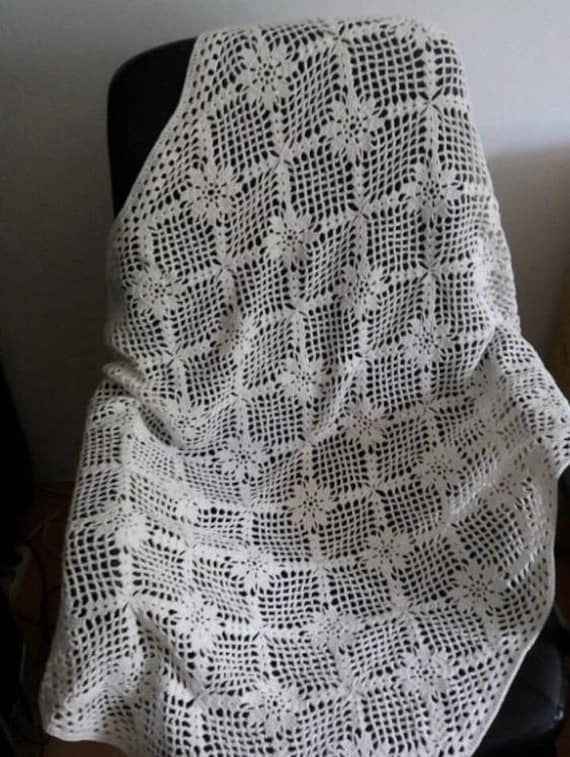 Crochet Blanket Pattern La Nostalgie Lacy Vintage Etsy