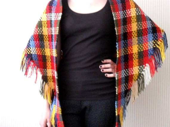 Haakpatroon Sjaal Vintage Omslagdoek Filet Haken Kleurige Etsy
