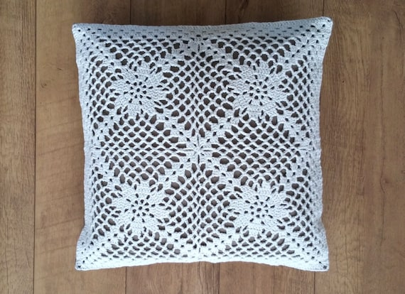 Crochet Pillow Pattern Us Terms La Nostalgie Crochet Pillow Etsy