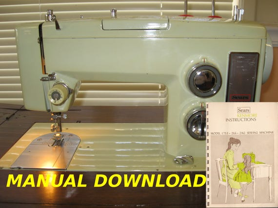 Sears Kenmore Model 40 Sewing Machine Owners Manual Kenmore Etsy Impressive Who Makes Kenmore Sewing Machines For Sears