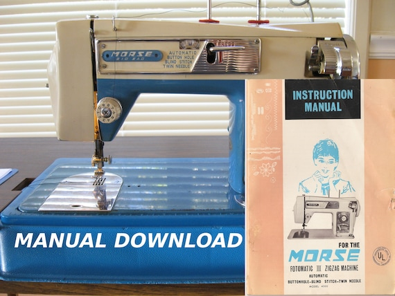 morse sewing machine morse fotomatic iii owners manual etsy