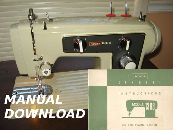 Sears Kenmore Model 40 Sewing Machine Owners Manual Kenmore Etsy Inspiration Kenmore Sewing Machine Owner's Manual