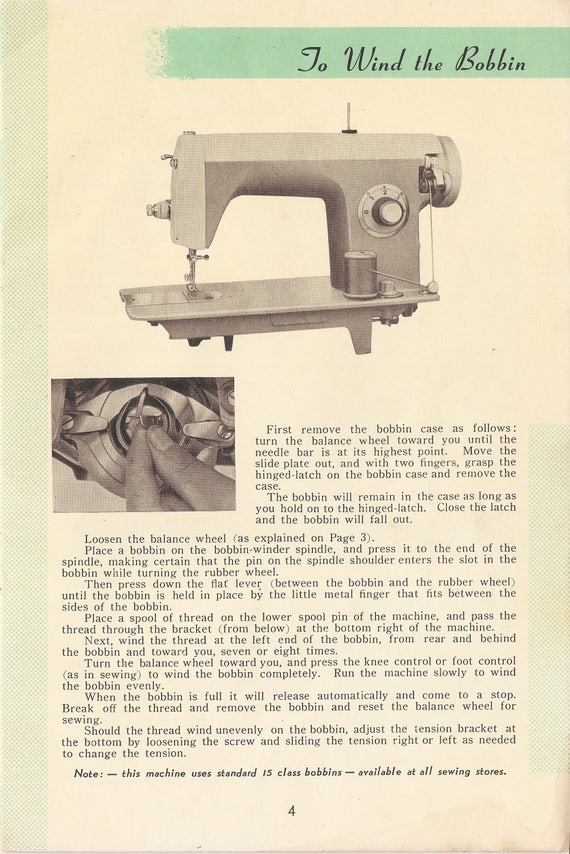 Wizard Sewing Machine Owners Manual White Brother Morse Etsy Interesting Brother Ja 28 Sewing Machine Manual