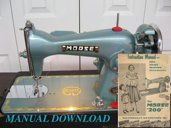 This is the manual for the kingston deluxe precision sewing.