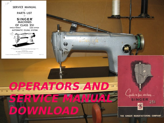 Singer 40 Industrial Sewing Machine Service Manual Owners Etsy Enchanting Singer Sewing Machine Service