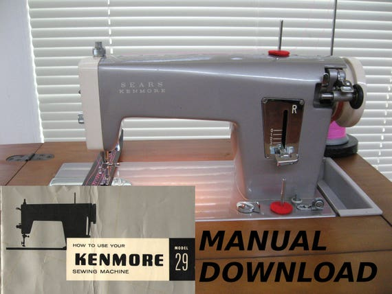 sears kenmore model 29 sewing machine owners manual machine etsy rh etsy com 2142 sears kenmore manual sears kenmore manual maquina coser