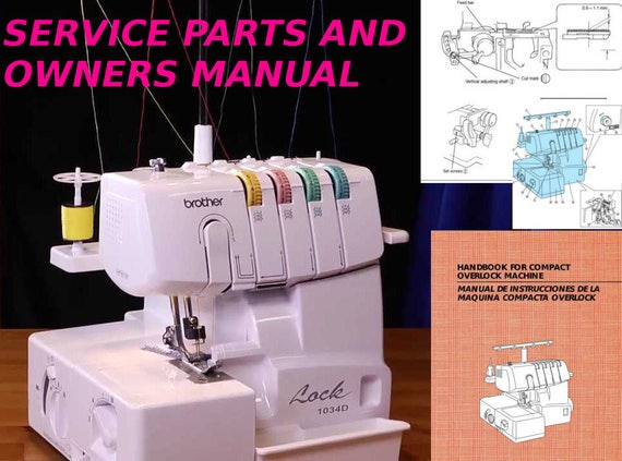 Brother 40 Serger Service Manual Homelock 40d Adjusters Etsy Awesome Brother Serger Sewing Machine