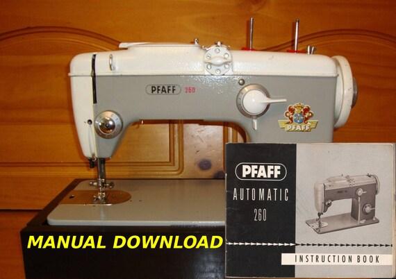 Manual pfaff 260.