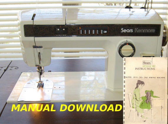 Sears Kenmore Model 40 Sewing Machine Owners Manual Kenmore Etsy Amazing Kenmore Sewing Machine Owner's Manual