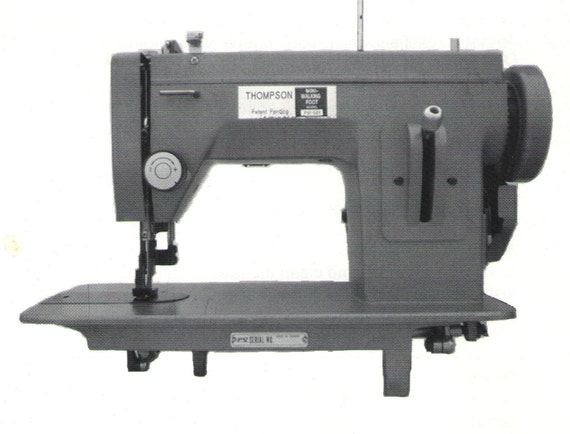 Thompson PW40 Sewing Machine Owners Manual Thompson Mini Etsy Impressive Thompson Sewing Machine Manual