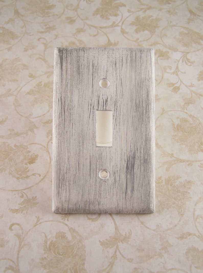 Farmhouse Electric Outlet Cover Antique White or Pick Color Country Cottage Chic Rooster Cover