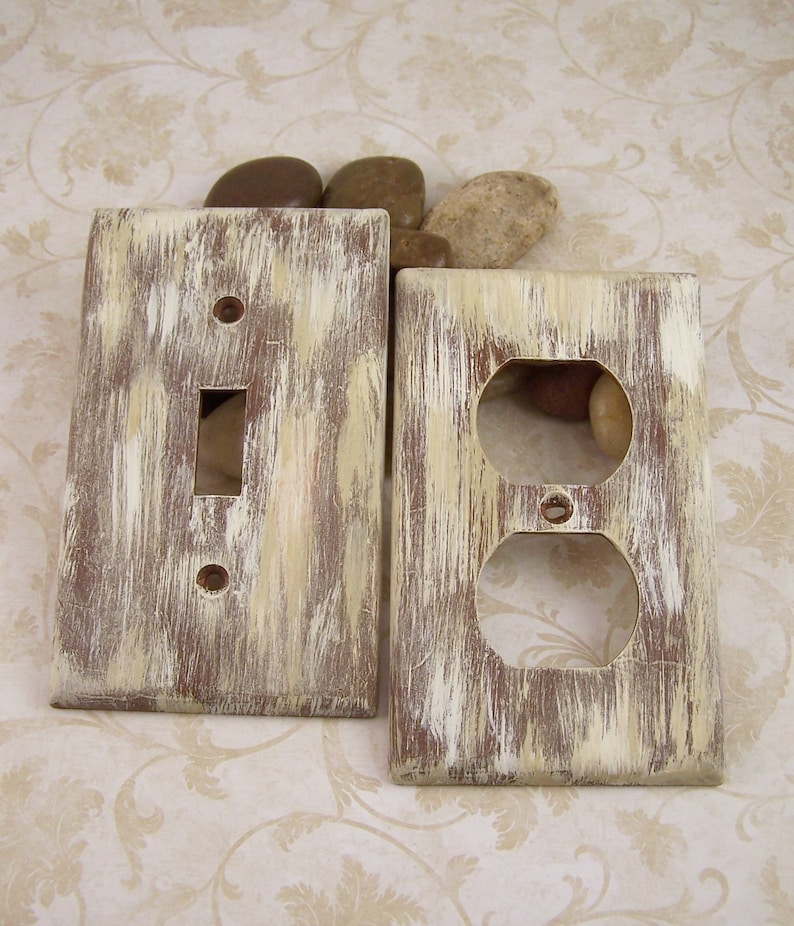 Country Bathroom Beige Bathroom Home Decor Metal Light Switch Plate Cover