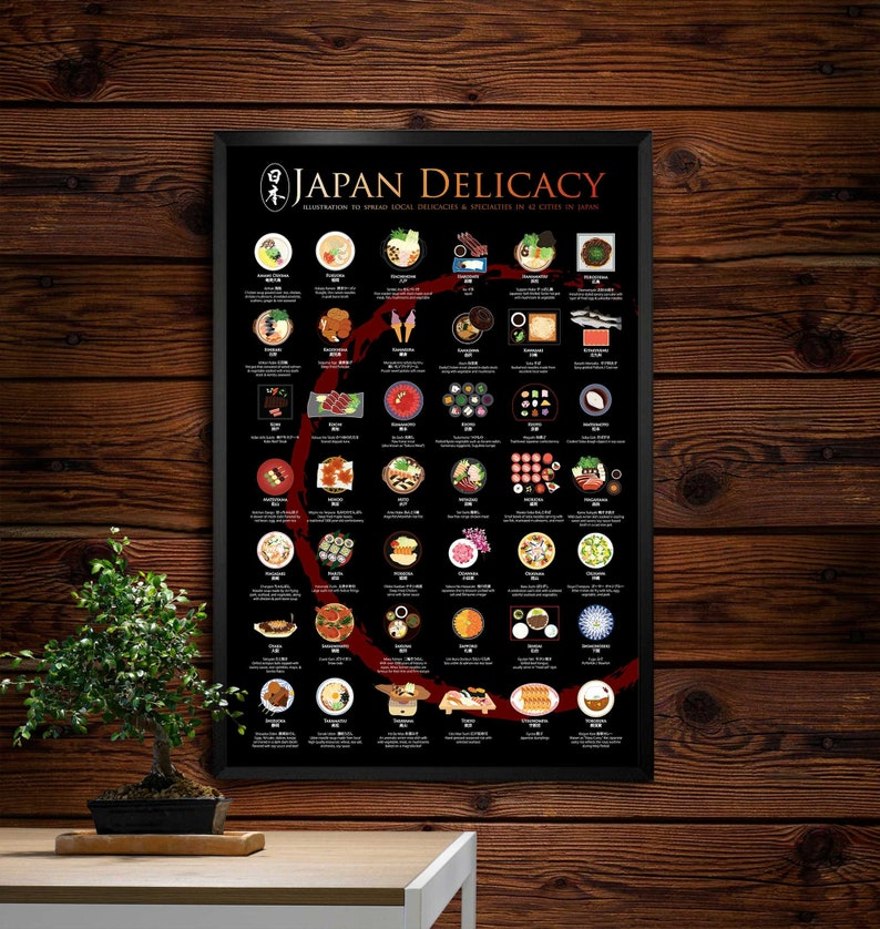 Japan Delicacy Poster 24x36 Zen Circle Background image 0