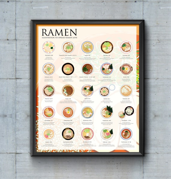 The Ramen Poster, introduce 25 regional ramen specialties across Japan