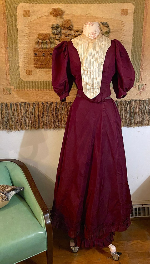 Vintage Late 1800s to Early 1900s Victorian Silk a