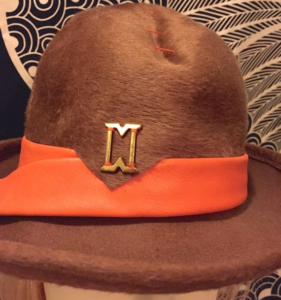 ❤ Childrens Brown Felt Cowboy Hat By Century Novelty By Century Novelty ❤ New