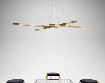 Modern Chandelier | Brass Chandelier | Pendant Lamp | Designer Lighting | Minimalist Lighting | Modern Lighting |