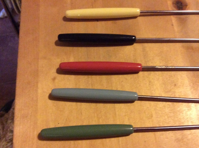 Fondue Party Mid-Century Perk Swiss Made Fondue Fork Set Party Accessory Dipping Forks
