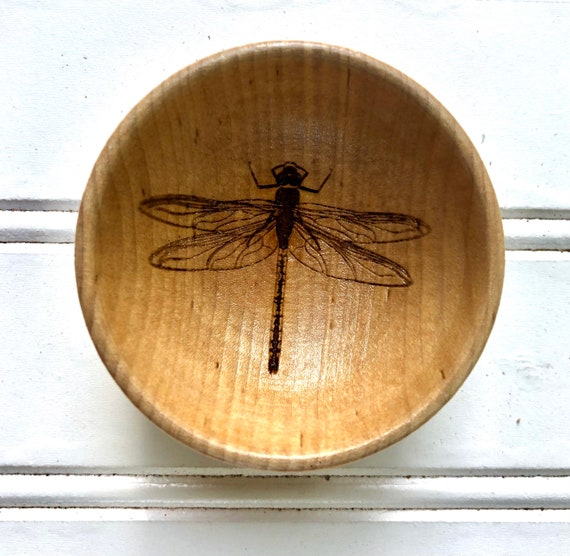 Dragonfly Ring Bowl. Laser Engraved design. Free Gift Wrap Included