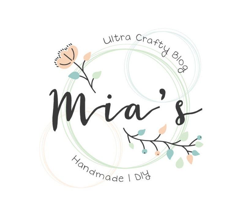 Floral Logo Design Craft Logo Flower Logo Crafty Logo Etsy