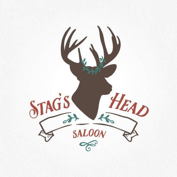 Stag Logo Design Deer Antlers Head